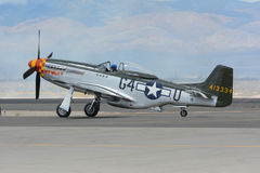 Norr - amerikansk mustang P-51 Arkivfoto