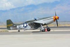 Norr - amerikansk mustang P-51 Fotografering för Bildbyråer