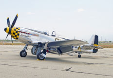 1945 norr - amerikansk P--51Dmustang Kimberly Kaye Fighter Aircraft Arkivbild