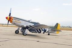 1945 norr - amerikansk P--51Dmustangdam Alice Fighter Aircraft Royaltyfri Fotografi