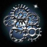 norr avståndsstjärna för kugghjul Royaltyfri Fotografi