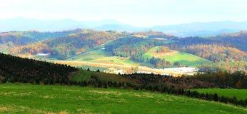 Norr Carolina Countryside i höst Fotografering för Bildbyråer