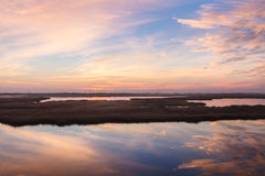 Norr Carolina Marsh på Bodie Island Arkivbild