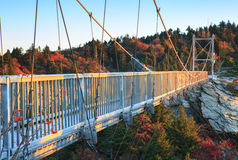 Norr Carolina Mile High Swinging Bridge farfarberg Royaltyfri Fotografi