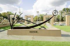 Norr Carolina Veterans Park, Fayetteville-22 mars 2012: Parkera hängivet till alla NC-veteran i tillståndet Arkivbilder