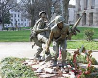 Norr Carolina Vietnam War Memorial arkivfoton