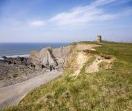 Norr Cornwall kust royaltyfri bild