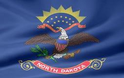 norr dakota flagga stock illustrationer