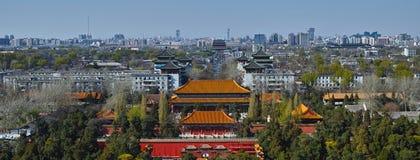 Norr del av den centrala linjen av den beijing staden Royaltyfria Bilder