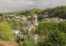 Norr Devon Village av Braunton, England Arkivbilder