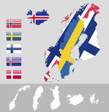 Norr Europa, Skandinavien Fotografering för Bildbyråer