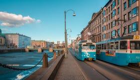 Norr europeiskt stadsliv Arkivfoton