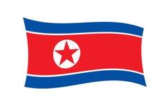 norr flaggakorean Arkivfoto