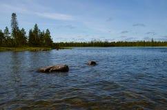 Norr flod Arkivbild