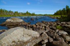 Norr flod Arkivfoto