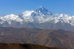 Norr framsidamontering Everest Arkivfoton