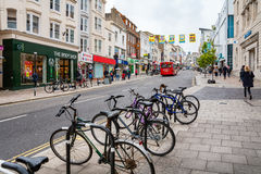 Norr gata Brighton England, UK Arkivbild