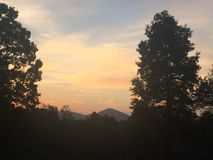 Norr Georgia Sunset arkivbild