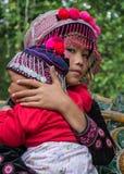 Norr Hilltribe barn Thailand Arkivfoto