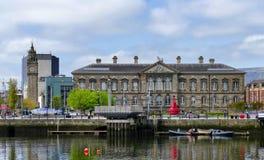Norr Irland Belfast eget hus arkivbild