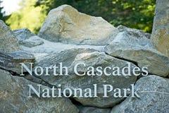 Norr kaskadnationalpark royaltyfria foton