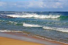 Norr kust av Kauai, Hawaii Arkivfoto