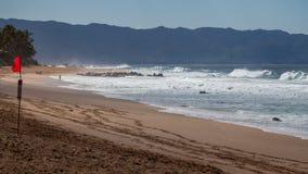 Norr kust i Hwaii Arkivbilder