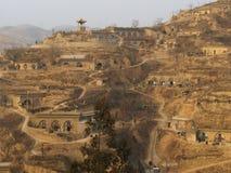 norr landskap shanxi för grottahus Royaltyfri Foto