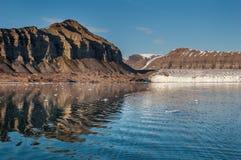 Norr landskap, Svalbard, Spitsbergen Arkivfoton