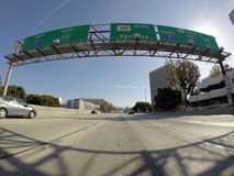 Norr Los Angeles motorvägtecken för 101 Royaltyfri Fotografi