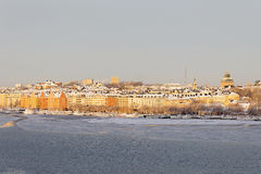 Norr Malarstrand in central stockholm a sunny winter day Stock Photography