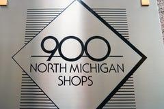 900 norr Michigan Arkivbilder
