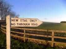 Norr Northumberland som är ny Etal, tecken, England Arkivbild
