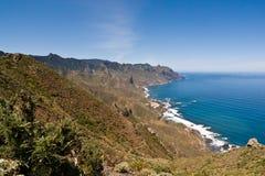 Norr ostkust av Tenerife Arkivbilder