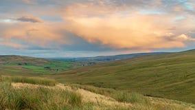 Norr Pennineslandskap nära Garrigill, England arkivfoton