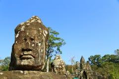Norr port av Angkor Thom Royaltyfri Foto