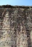 Norr port av Angkor Thom Arkivfoton