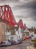 Norr Queensferry i Edinburg Fotografering för Bildbyråer
