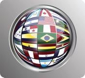 norr söder Amerika för centrala flaggor