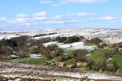 norr snowfjäder yorkshire för avverkningar Royaltyfri Foto