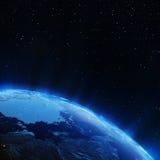 Norr stadsljus för jord Royaltyfri Bild