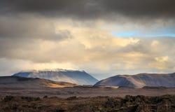 Norr östligt isländskt landskap Royaltyfria Bilder