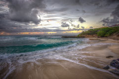 Norr strand Kaneohe Marine Corps Base Hawaii Arkivfoto