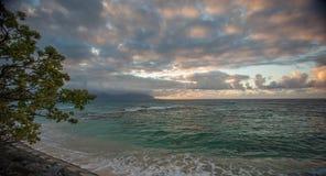 Norr strand Kaneohe Marine Corps Base Hawaii Royaltyfri Foto