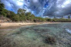Norr strand Kaneohe Marine Corps Base Hawaii Arkivfoton