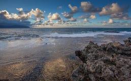 Norr strand Kaneohe Marine Corps Base Hawaii Fotografering för Bildbyråer
