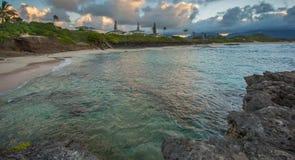 Norr strand Kaneohe Marine Corps Base Hawaii Arkivbilder