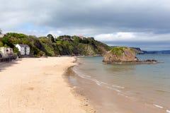 Norr strand Tenby Wales Arkivbilder