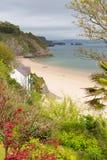 Norr strand Tenby Wales Royaltyfria Foton