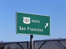 101 norr till San Francisco Arkivfoton